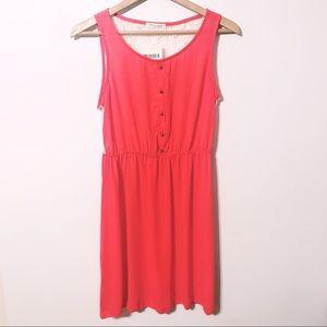 Tea N Roses orange sleeveless dress lace back new
